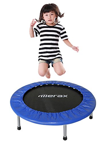 Merax 36 Foldable Exercise Mini Trampoline With Safety